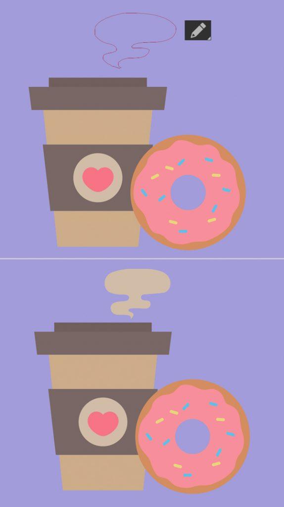 1631086908 32 Cach ve Vector ca phe va banh donut trong Adobe