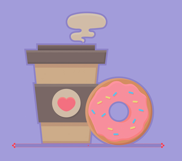 1631086909 207 Cach ve Vector ca phe va banh donut trong Adobe