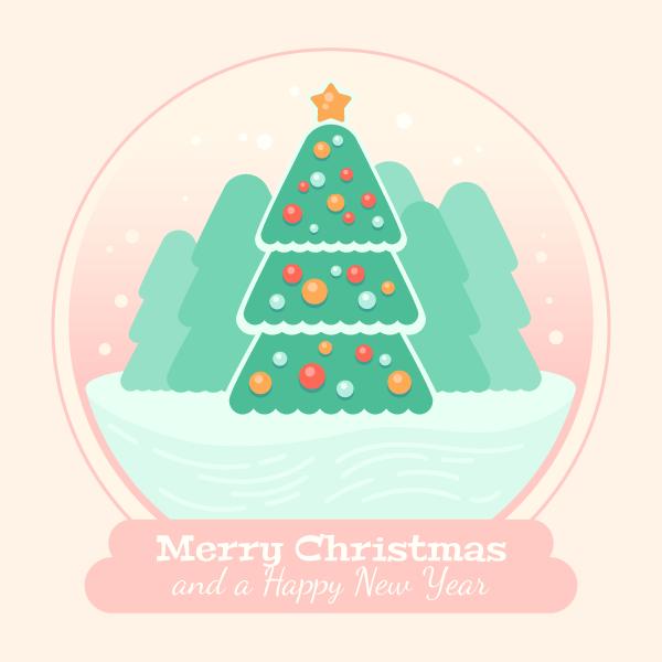 Hình ảnh cuối cùng của Quả cầu thủy tinh trên cây thông Noel