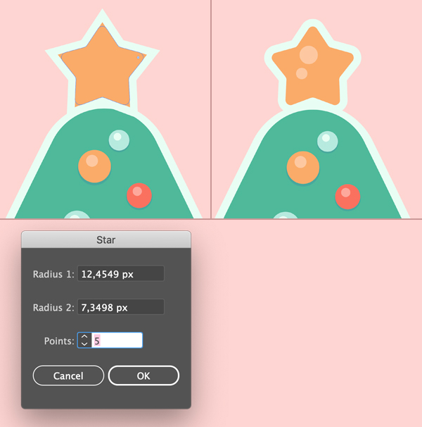 Cây thông Noel thủy tinh hình ngôi sao topper