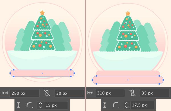 Cây thông Noel đứng bóng thủy tinh