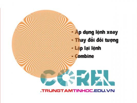 lệnh combine trong Corel