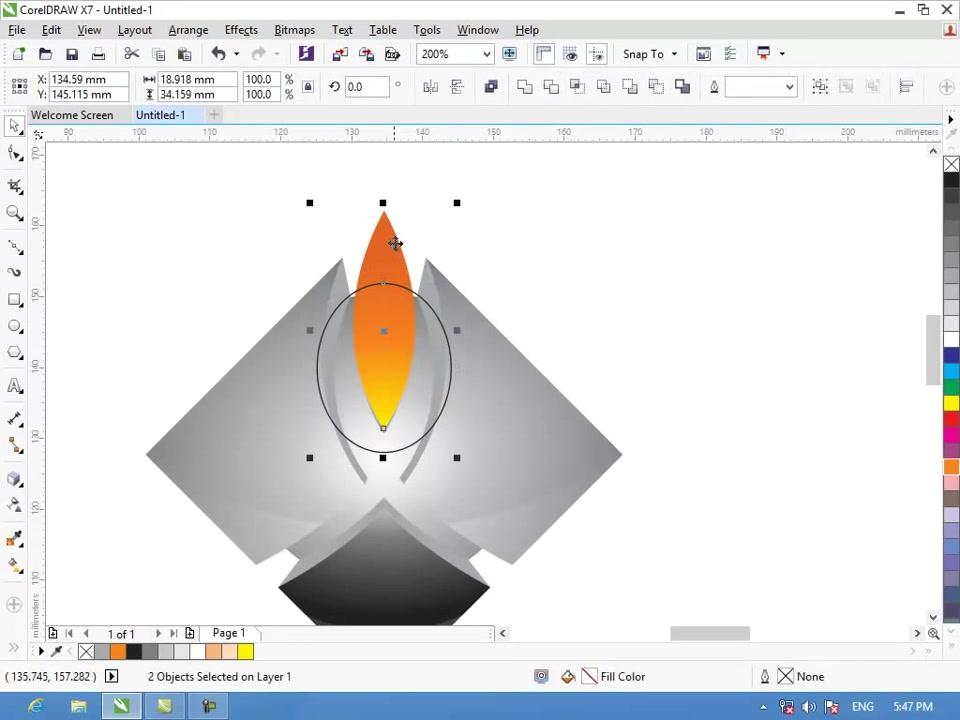 Vẽ logo 3D trong Corel X7