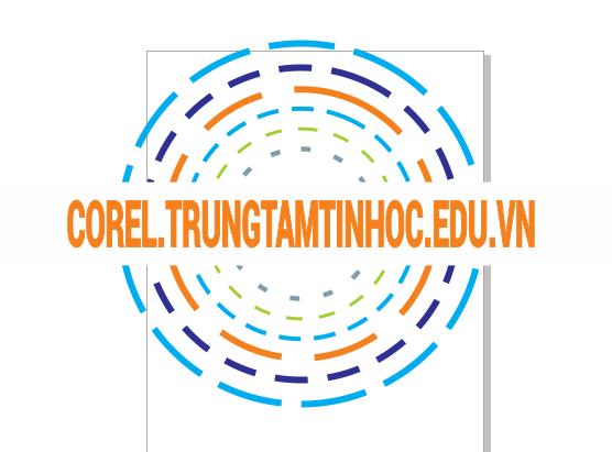 Vẽ logo bằng hình tròn trong Corel