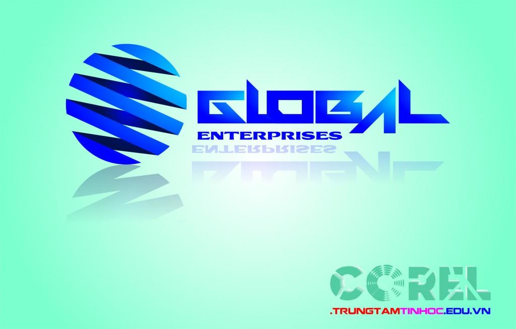 Vẽ logo Global trong Corel