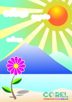vẽ tranh phong cảnh bằng corel